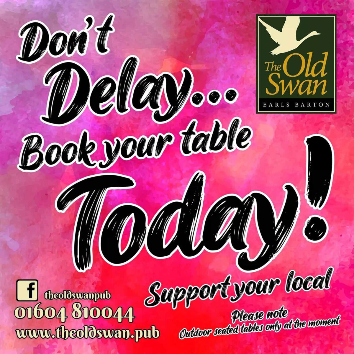 Don't delay - book today