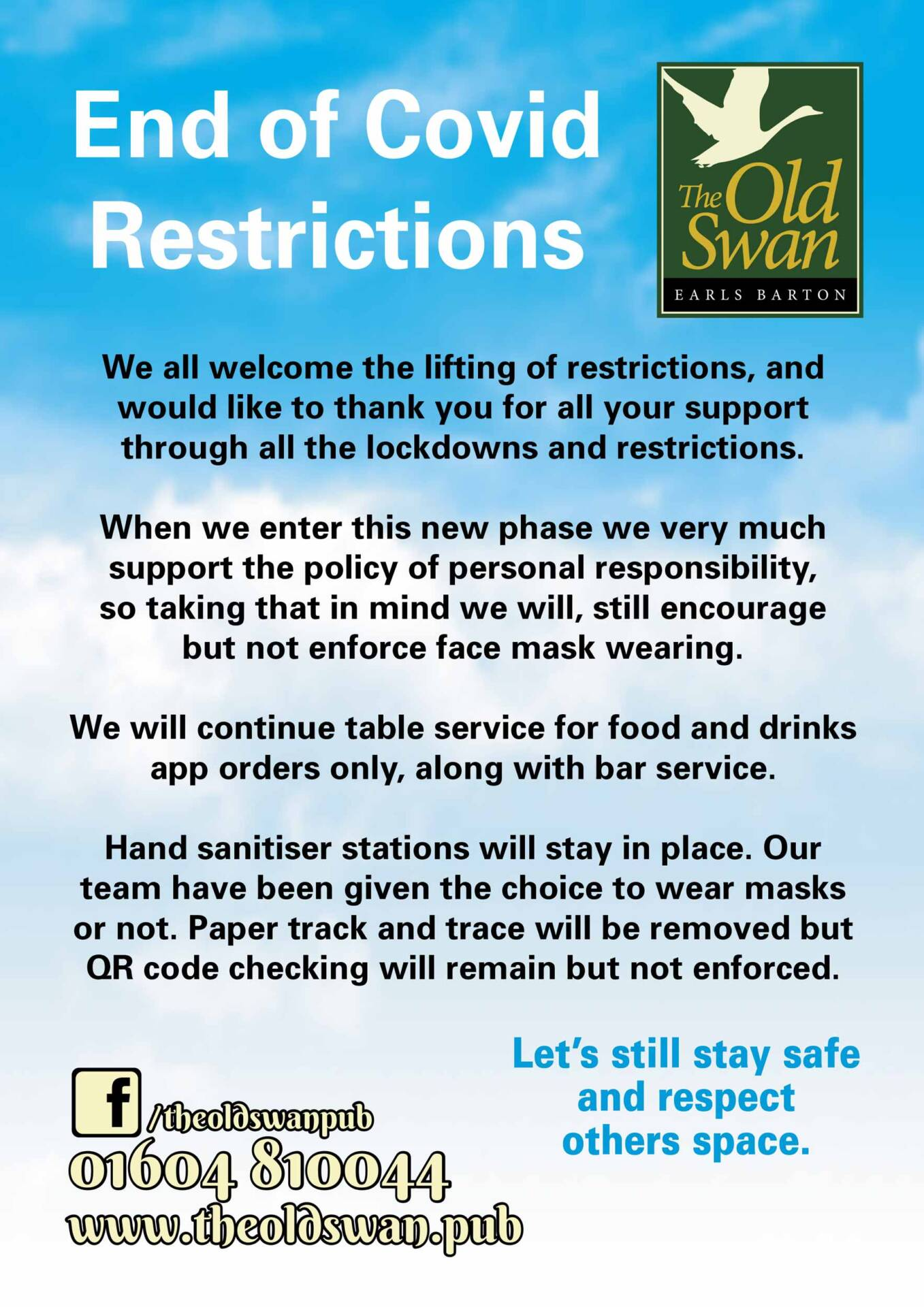 end of covid restrictions